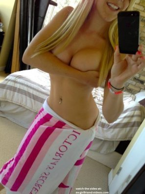 amateur photo Victoria Secret Towel and a Handbra