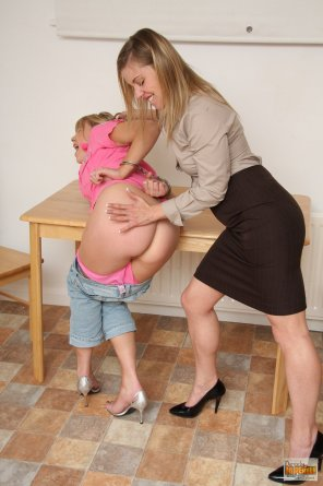 amateur photo Abigail Toyne - Cuffed & Spanked