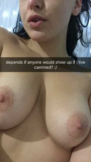 amateur photo Who wants to cum on these tits? SC: jessohx