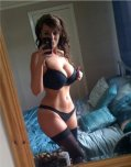 amateur photo Curvy body in black lingerie