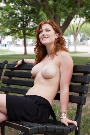 amateur photo Enjoying the day out on the park bench