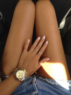 amateur photo Tan thighs