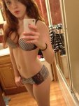 amateur photo Busty redhead in panties