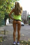 amateur photo Perfect blond in the street