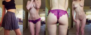 amateur photo Purple underwear