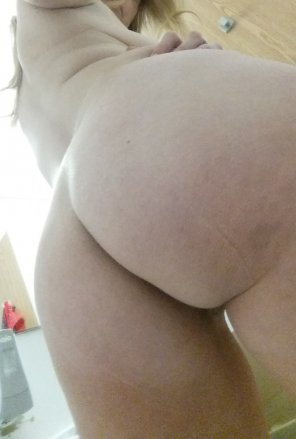 amateur photo Anyone want to be tended to by a pale nurse with a cute butt? Scrubs optional. [OC]