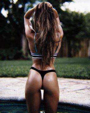 amateur photo Black Thong