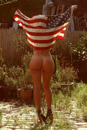amateur photo Patriotic Ass