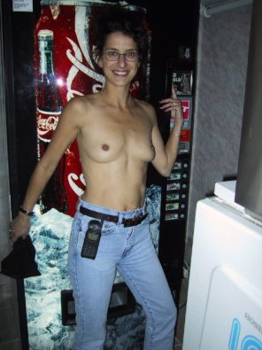 amateur photo Topless wearing jeans