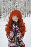 amateur photo Winter girl