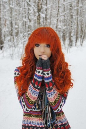 amateur photo Winter girl