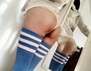 amateur photo Blue thigh highs 💙