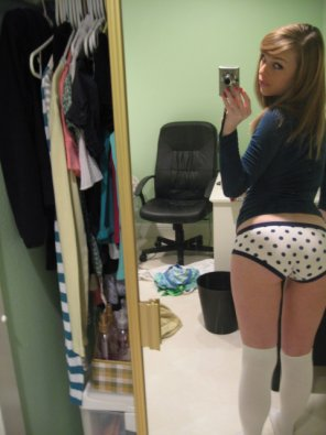 amateur photo Polkadot panties