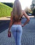 amateur photo I would follow her for blocks