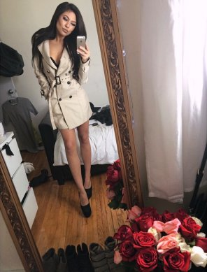 amateur photo Trench Coat & Legs