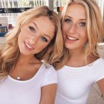 amateur photo College blonde duo