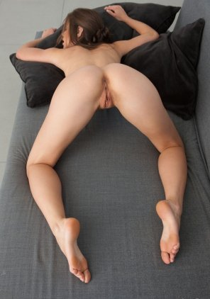 amateur photo Bent over on the couch