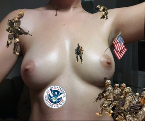 amateur photo IMAGE[image] When America finds out there is oil on my tits..