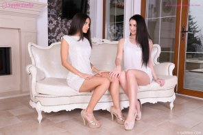 amateur photo Sensual lesbian lovemaking by Kittina Cox and Shrima Malati