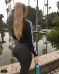 amateur photo Black Yoga Pants