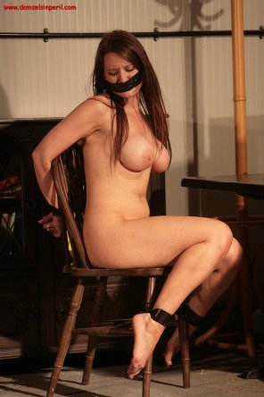 amateur photo Becky Speed Stripped, Bound & Gagged