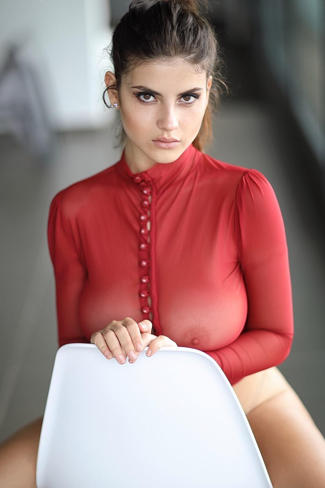 See through blouse porn