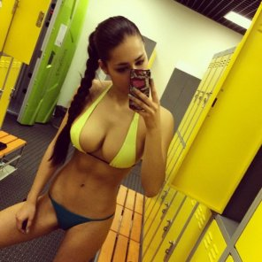 amateur photo In the locker room