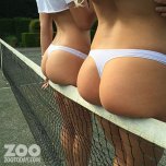 amateur photo Rosie Jones and Lissy Cunningham on the tennis court