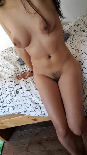 amateur photo Bed, bush, and boobs
