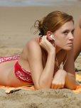 amateur photo On the beach. I hope she is wearing sun screen.