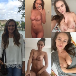 amateur photo Brunette Collage