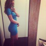 amateur photo blue dress knockout