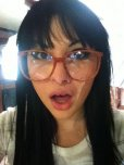 amateur photo Bailey Jay was lucky she was wearing glasses
