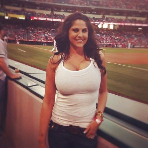 amateur photo Sexy girl at the game