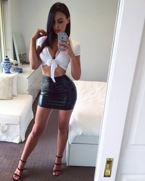 amateur photo Looking good in leather