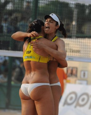 amateur photo Beach volleyball girls
