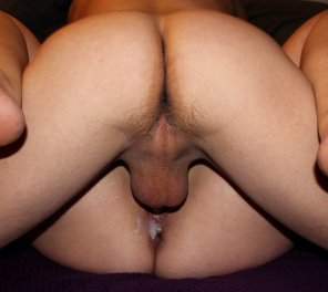 amateur photo My cumslut hotwife was rewarded with a creampie from her 21 year old playmate. [OC]