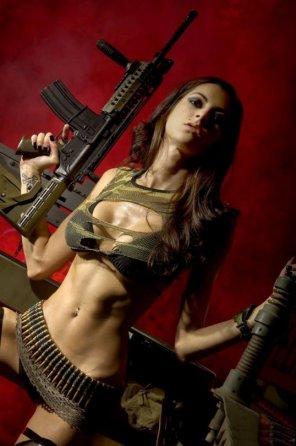 amateur photo A lot of armament