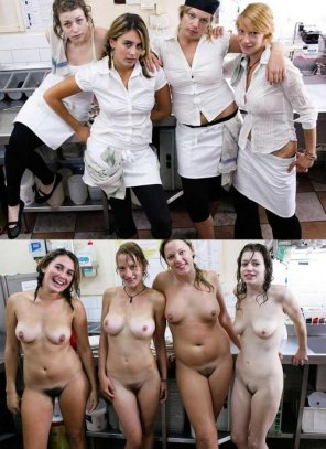 amateur photo Girls of the kitchen