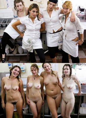 amateur photo Kitchen staff