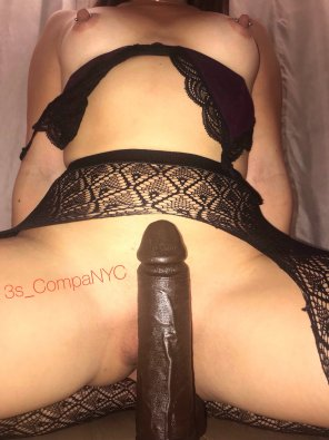amateur photo Trying this on [f]or size