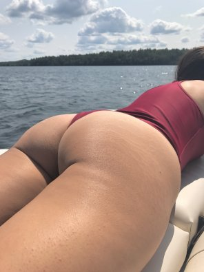 amateur photo In a thong bathing suit at the lake [Album in comments]