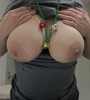 amateur photo IMAGE[Image] Working Christmas night. Here's my Jingle Tits.
