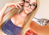 amateur photo Blonde in glasses