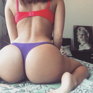 amateur photo Sitting on her bed