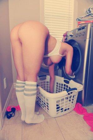 amateur photo Doing laundry