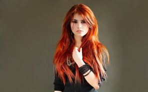 amateur photo Bright red hair
