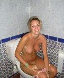 amateur photo On the toilet