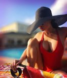amateur photo Red swimsuit