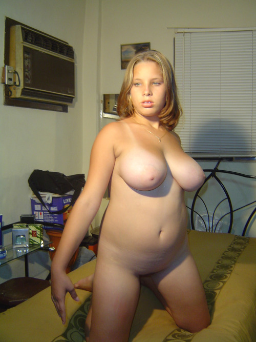 Thick Blonde Teen Striptease